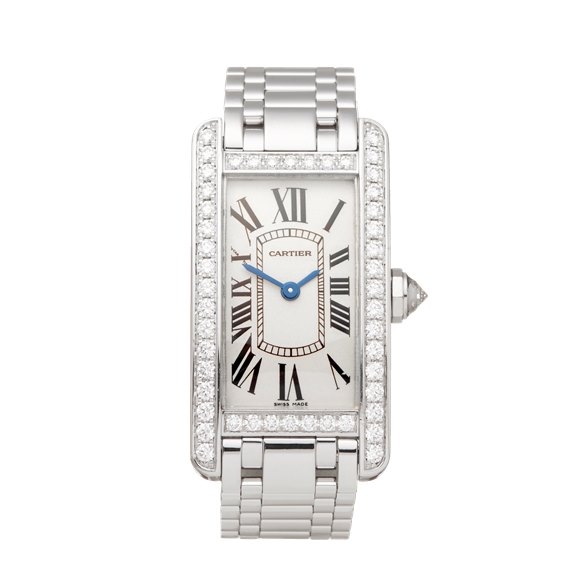 Cartier Tank Americaine Diamond 18k White Gold - WB7044L1 or 2489