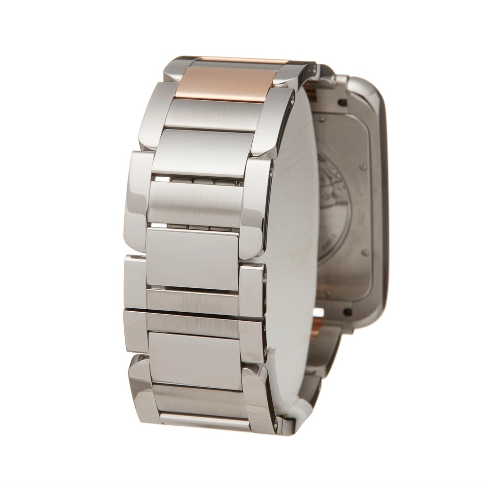 Cartier Tank Anglaise Xl Stainless Steel & Rose Gold W5310006 or 3507