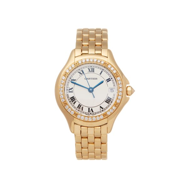 Cartier Panthère Diamond 18k Yellow Gold - WF8004F9 or 1161