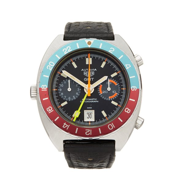 Heuer Autavia GMT Chronograph Stainless Steel - 11630