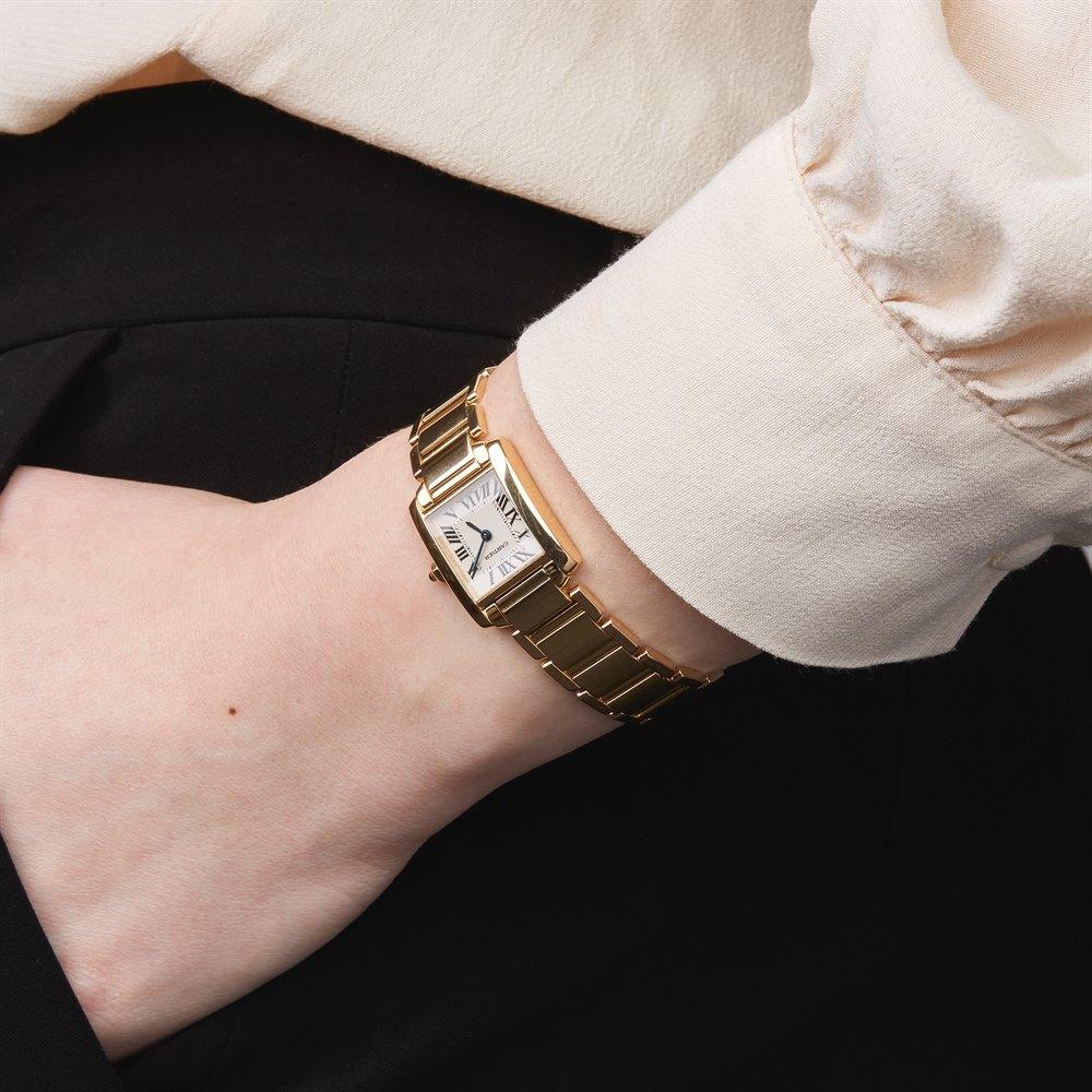 Cartier Tank Francaise 18k Yellow Gold 2385