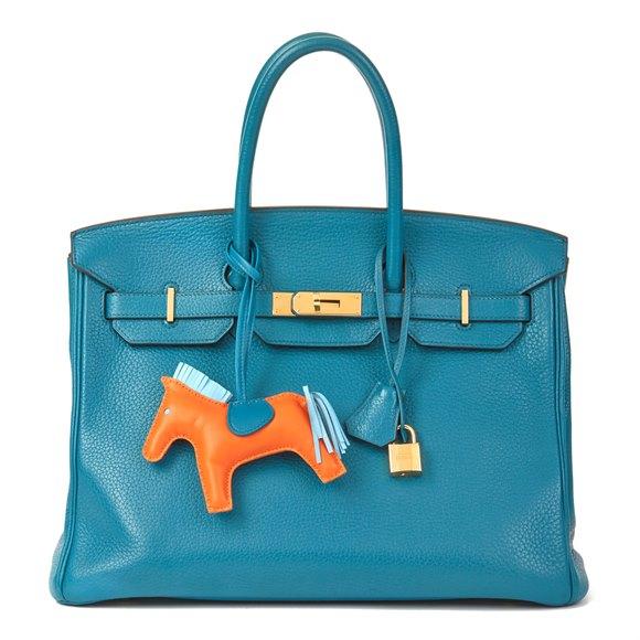 Hermès Blue Izmir Clemence Leather Birkin 35cm