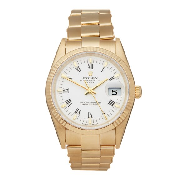 Rolex Oyster Perpetual Date 35 Yellow Gold - 15238