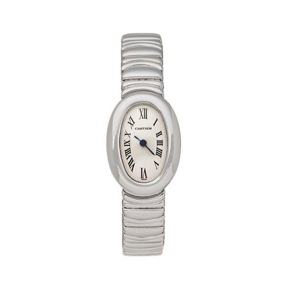 Cartier Baignoire Mini 18k White Gold - W15189L2 or 2369