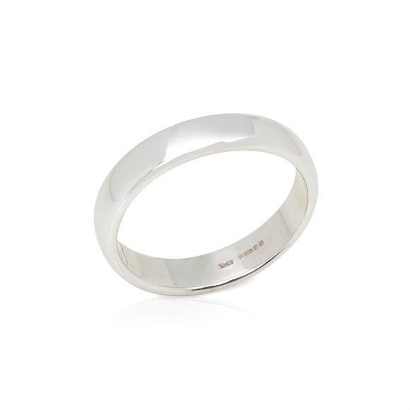 Tiffany & Co. Platinum 4.5mm Lucida Wedding Band