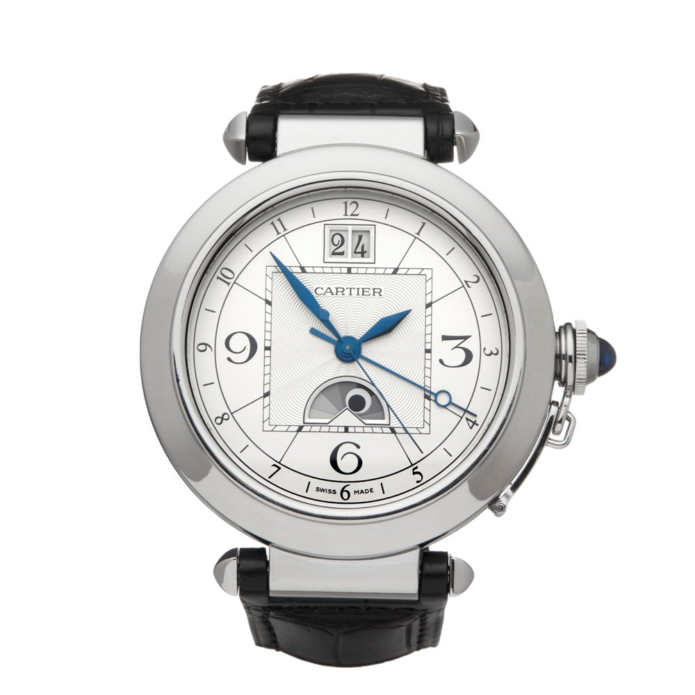 Cartier Pasha de Cartier Big Date Moonphase Xl Stainless Steel W31093 or 2938