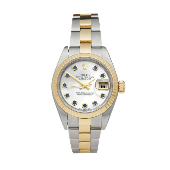 Rolex DateJust 26 Mother Of Pearl Sapphire Dial Stainless Steel & Yellow Gold - 79173