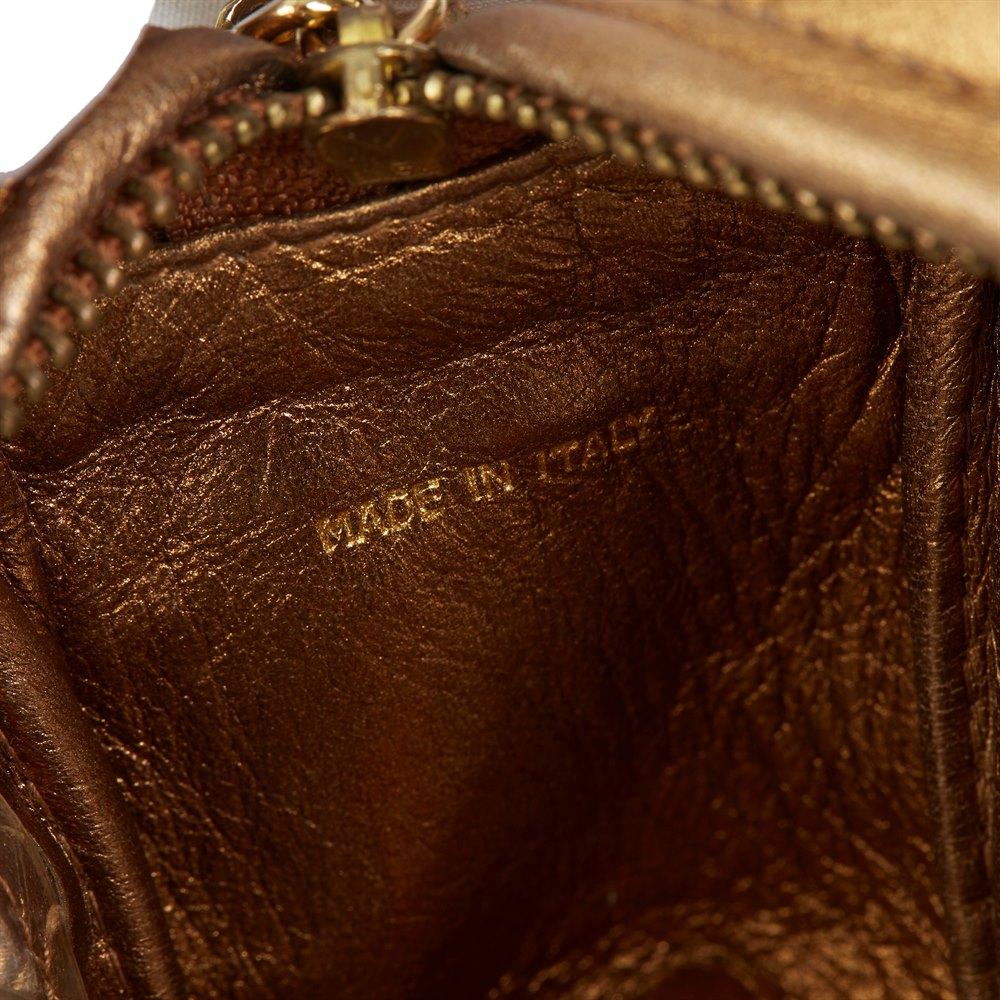 Chanel Gold Metallic Lambskin & PVC Vintage Naked Camera Bag