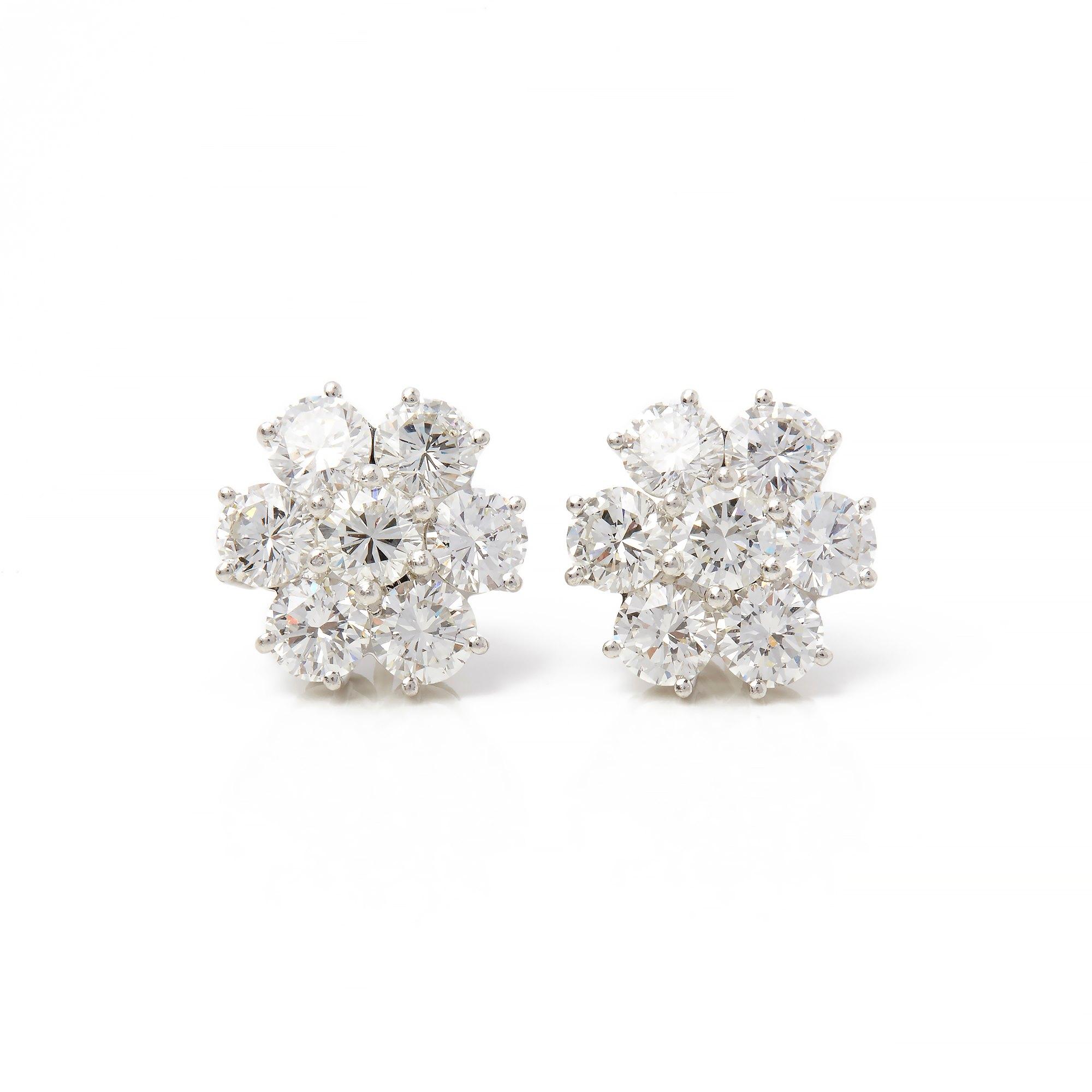 Boodles 18k White Gold Diamond Cluster Stud Earrings