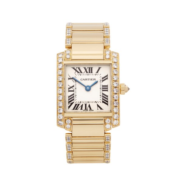 Cartier Tank Francaise Diamond 18k Yellow Gold - WE1001RG or 2385