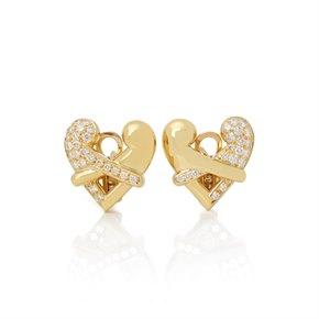 Boodles 18k Yellow Gold Diamond Hug Earrings