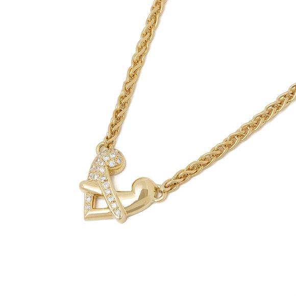 Boodles 18k Yellow Gold Diamond Hug Necklace