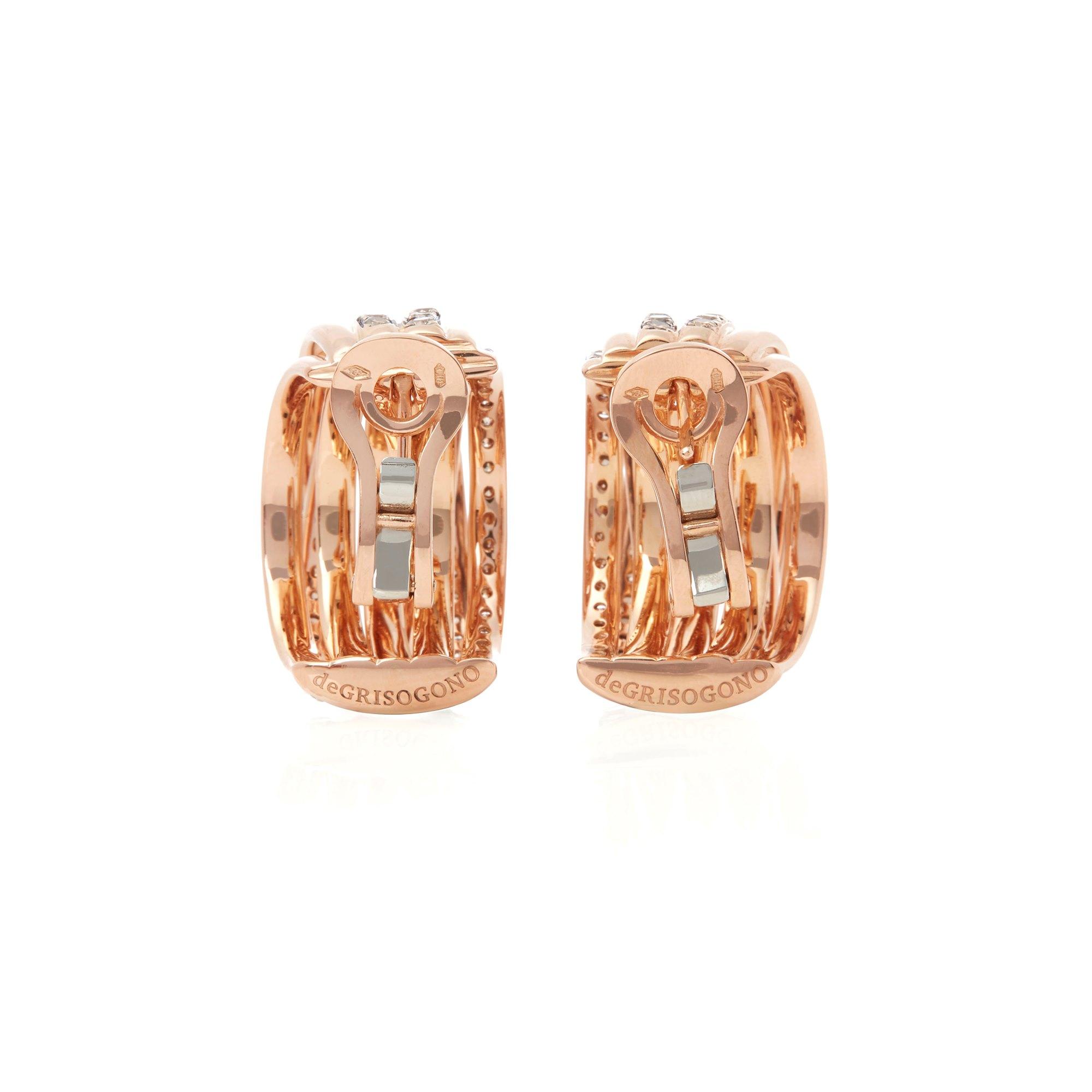 De Grisogono 18k Rose Gold Brown Diamond Allegra Earrings