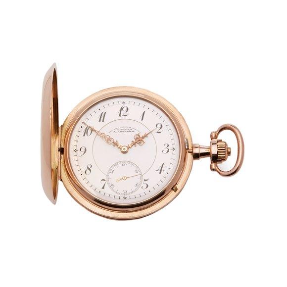 A. Lange & Söhne Pocket Watch Half Hunter Case 14k Yellow Gold - Calibre 43