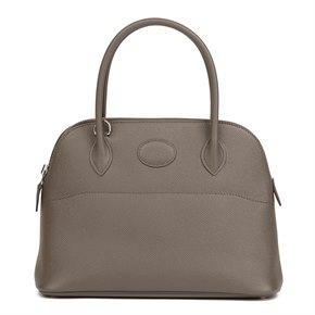 Hermès Etain Epsom Leather Bolide 27cm