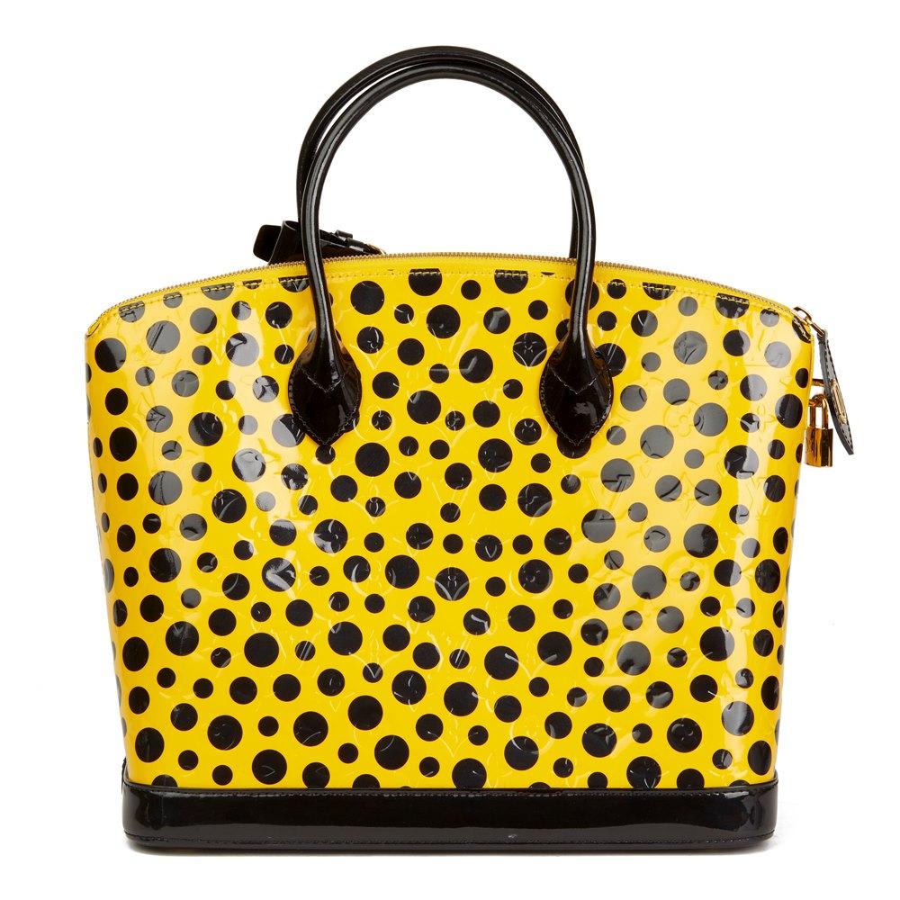 Louis Vuitton Yellow Vernis Leather Dots Infinity Yayoi Kusama Lockit MM