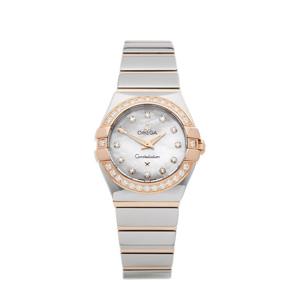 Omega Constellation Diamond Mother Of Pearl Stainless Steel & Rose Gold - 123.25.24.60.55.005