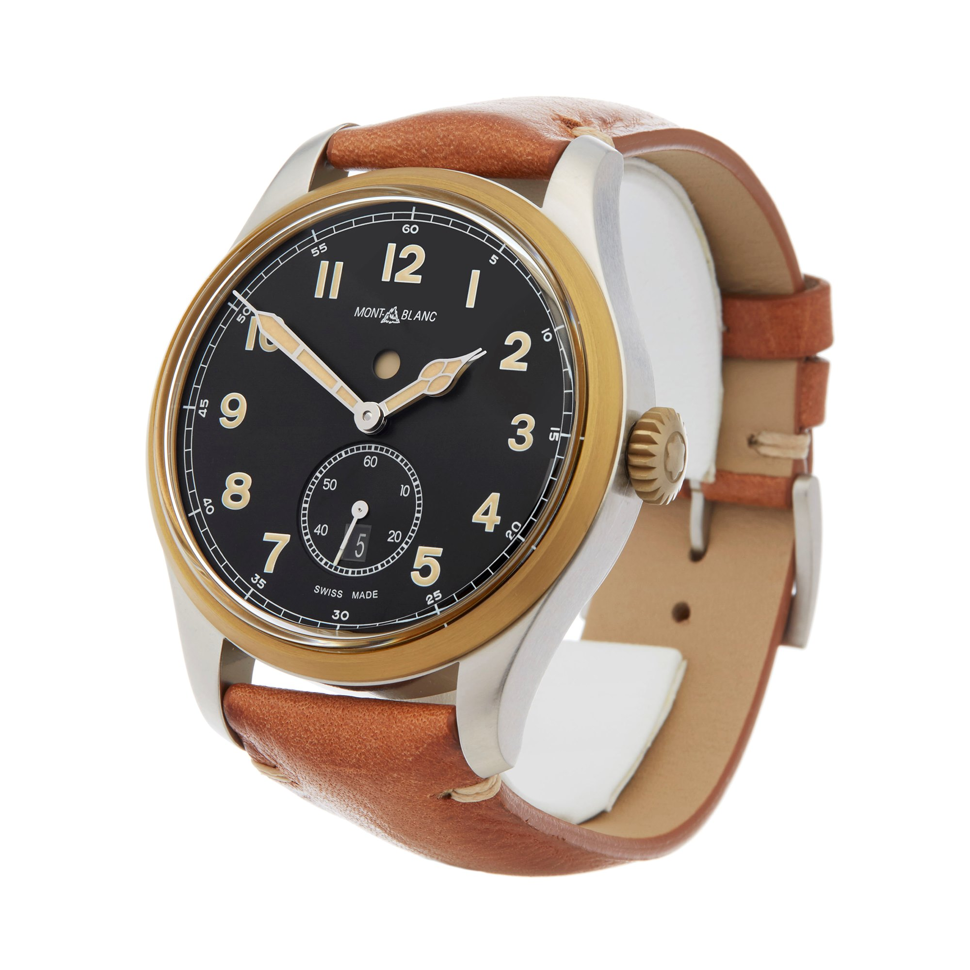 Montblanc 1858 Dual Time Stainless Steel & Bronze 116479