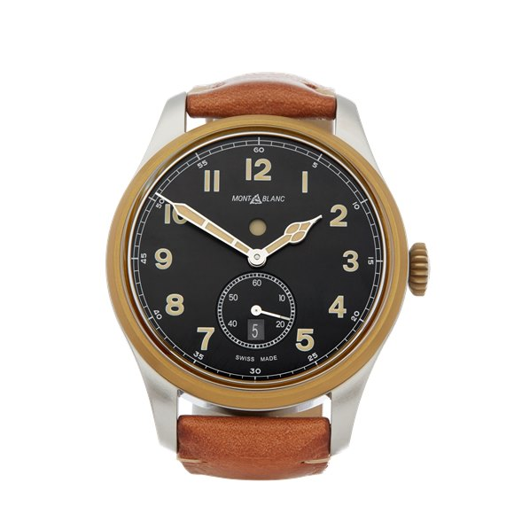 Montblanc 1858 Dual Time Stainless Steel & Bronze - 116479