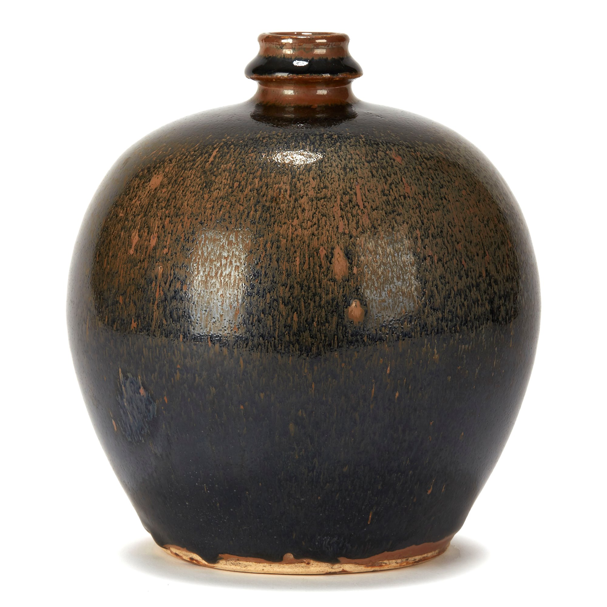 CHINESE HARESFUR GLAZED BULBOUS SONG STYLE POTTERY VASE Song style, 20th Century or possibly earlier