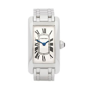 Cartier Tank Americaine 18k White Gold - W26019L1 or 1713