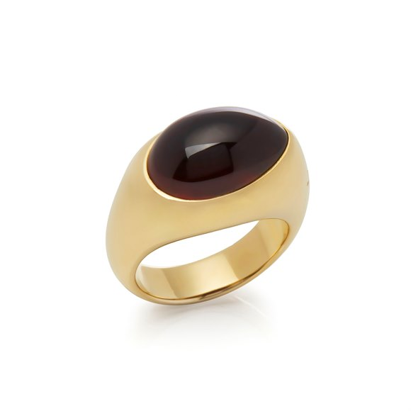 Pomellato 18k Yellow Gold Red Garnet Dome Ring