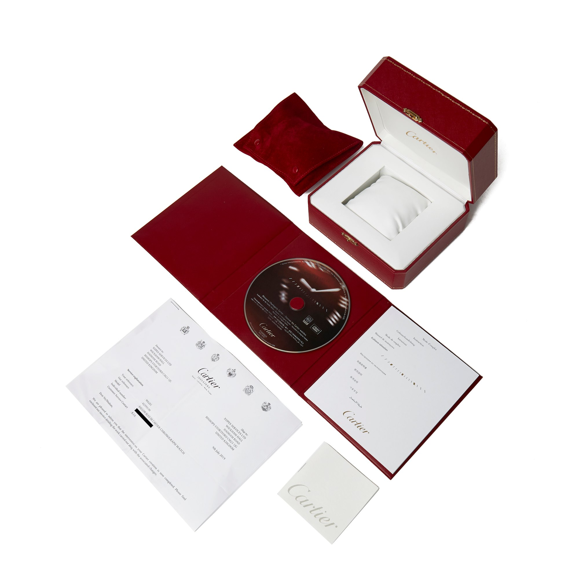 Cartier Ballon Bleu XL Chronograph Stainless Steel W6920003 or 3109