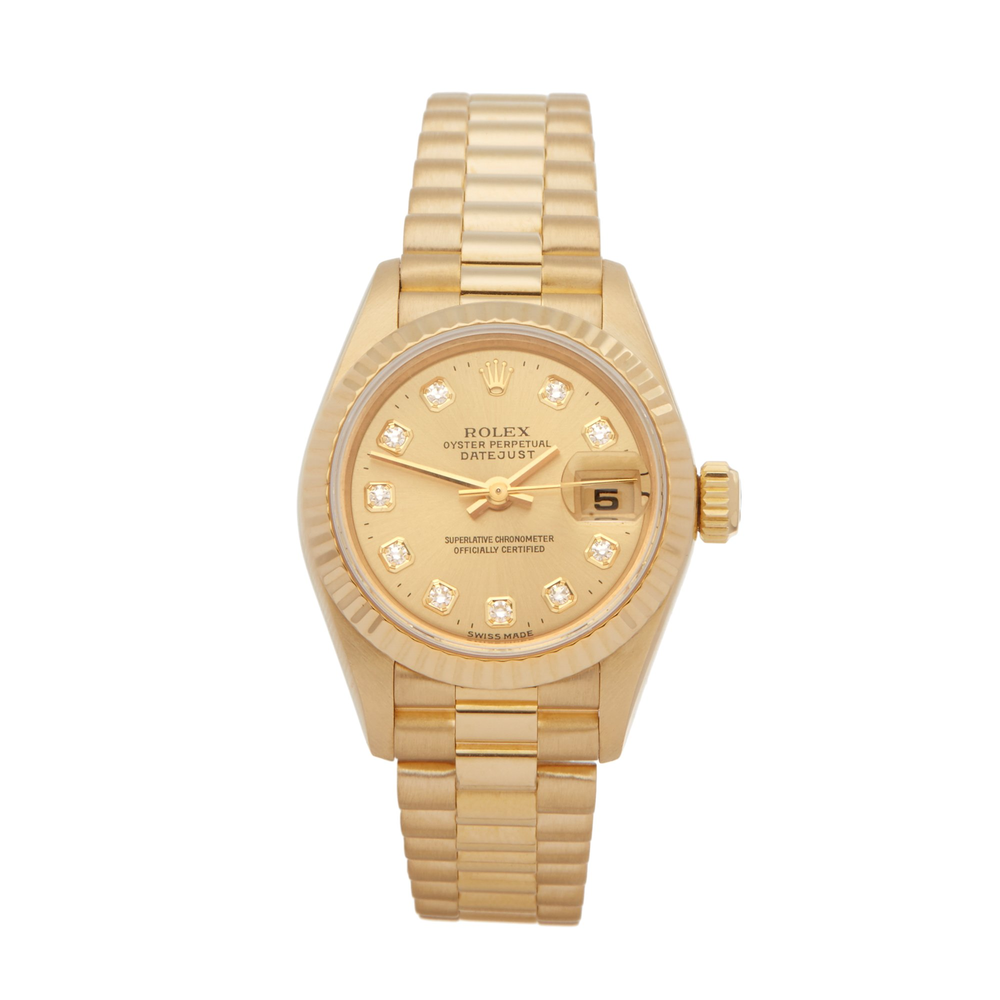 Rolex DateJust 26 Diamond 18k Yellow Gold 69178G