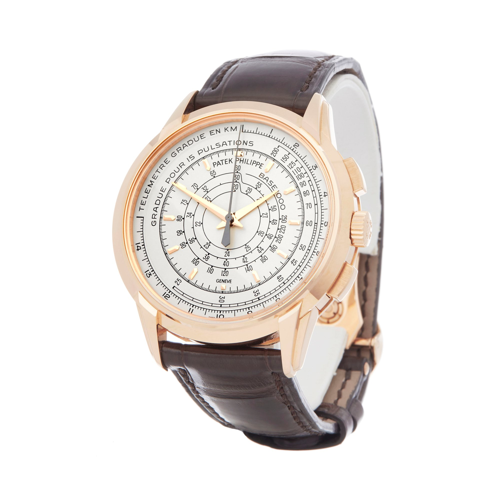 Patek Philippe Multi-Scale Chronograph Eric Clapton's 175th Anniversary Watch 18k Rose Gold 5975R-001