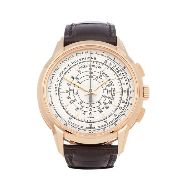 Patek Philippe Multi-Scale Chronograph Eric Clapton's 175th Anniversary Watch 18k Rose Gold - 5975R-001