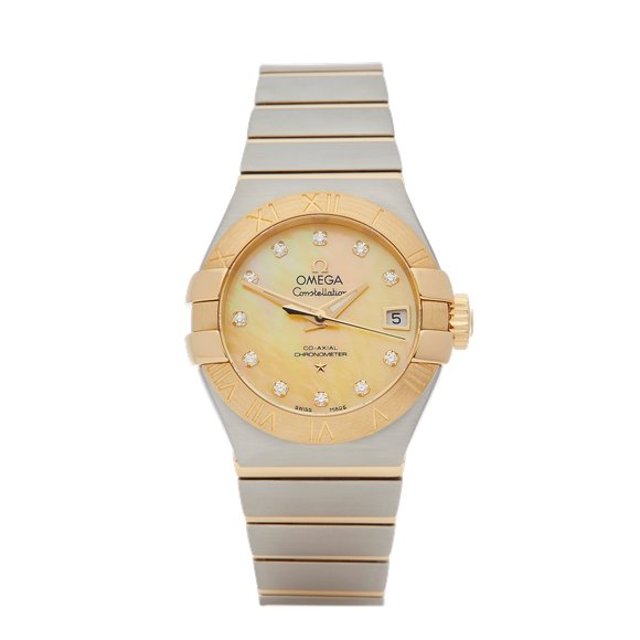 Omega Constellation Diamond Stainless Steel & Yellow Gold - 123.20.27.20.57.002