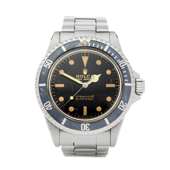 Rolex Submariner Non date Gilt Gloss Meters First Stainless Steel - 5513