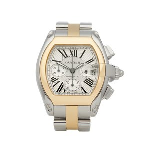 Cartier Roadster XL Chronograph Stainless Steel & Yellow Gold - W62027Z1 or 2618