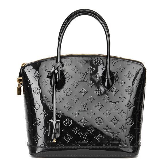 Louis Vuitton Black Patent Vernis Leather Lockit PM