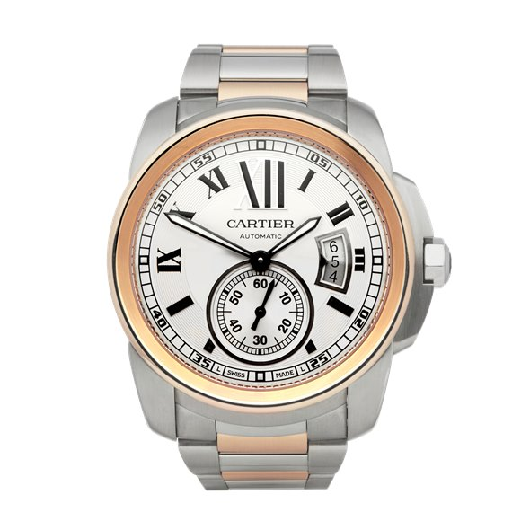 Cartier Calibre Stainless Steel & Rose Gold - WH00036 or 3389