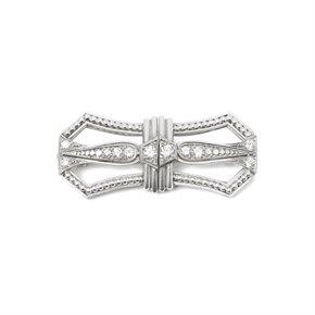 Tiffany & Co. Platinum Diamond Art Deco Vintage Brooch