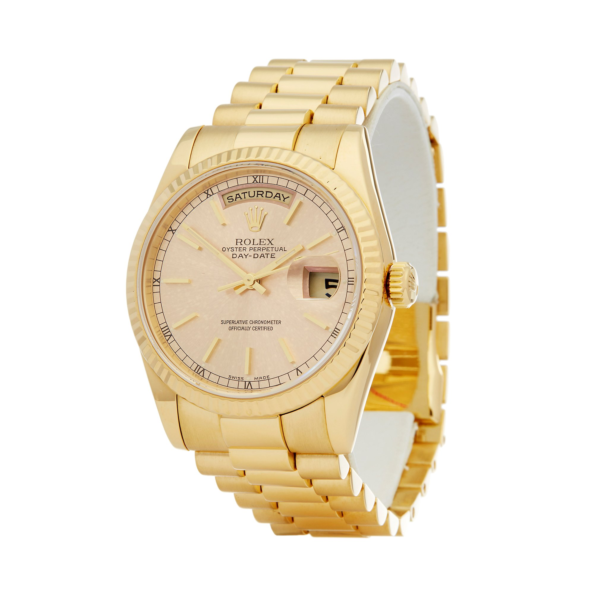 Rolex Day-Date 36 18K Yellow Gold 118238
