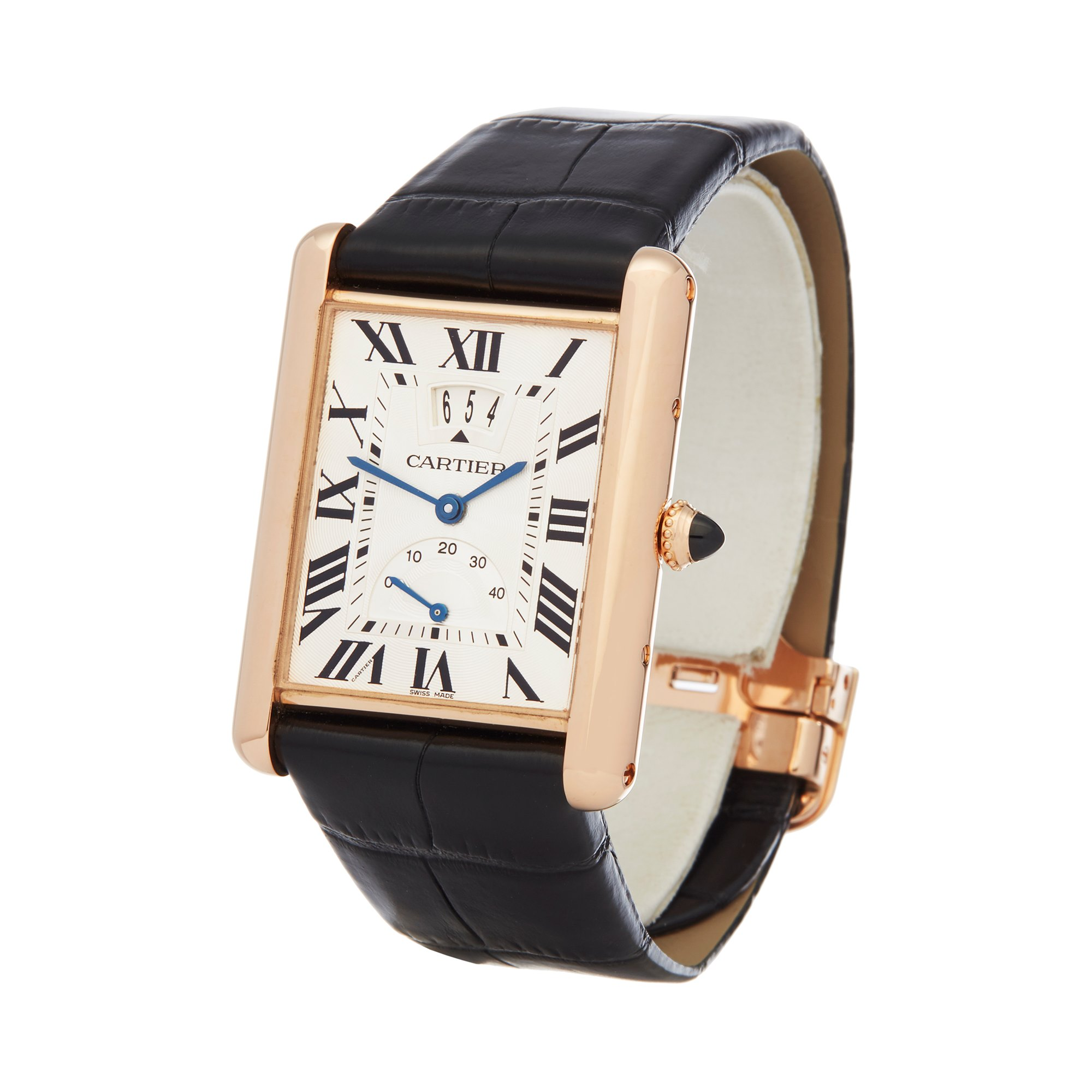 Cartier Tank Louis LC Big Date 18K Rose Gold W1560003 or 3185