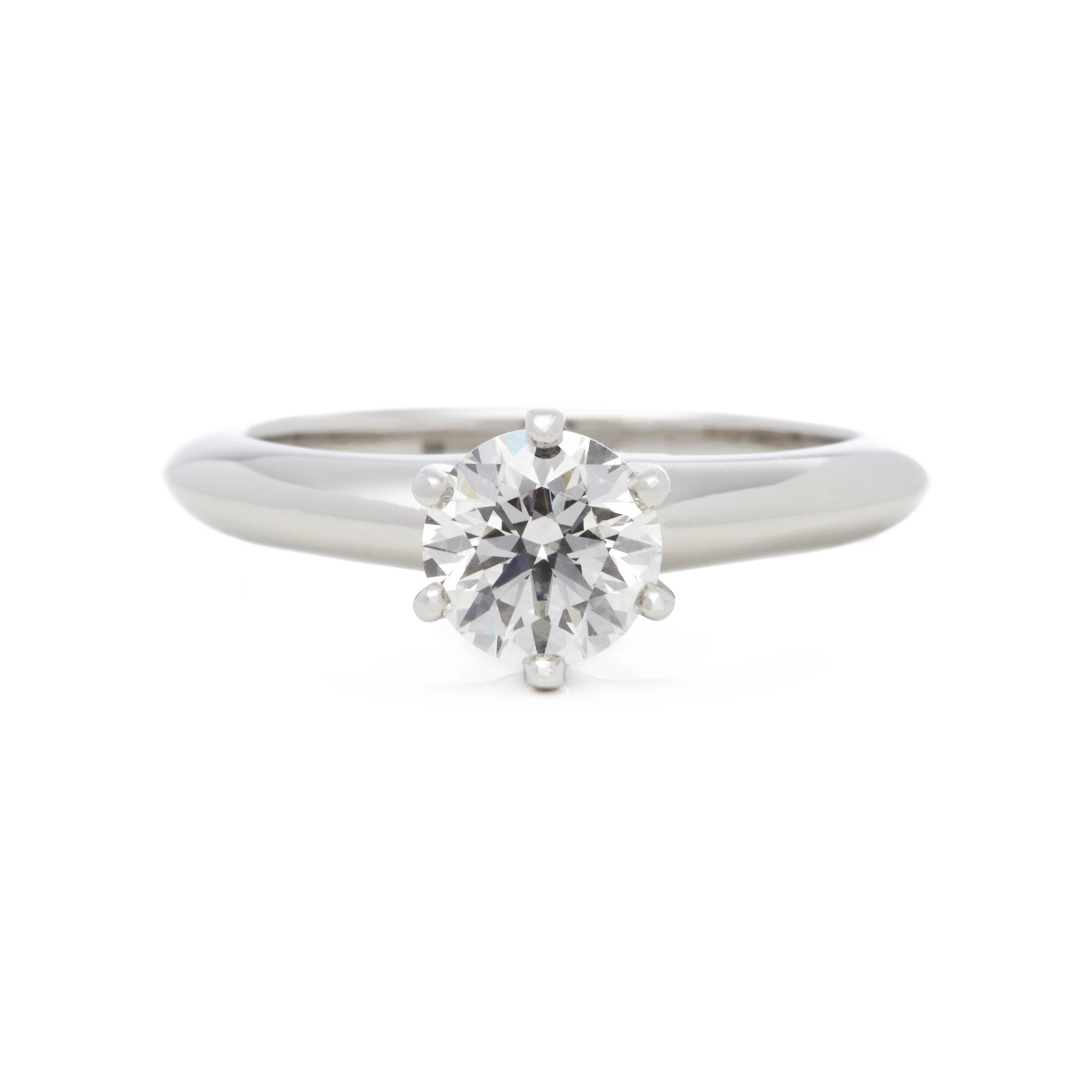 Tiffany & Co. Platinum 0.76ct Diamond Solitaire Engagement Ring