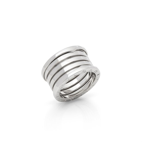 Bulgari 18k White Gold 5 Band B.Zero 1 Ring