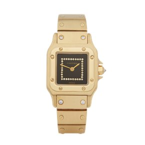 Cartier Santos Carree Diamond 18K Yellow Gold