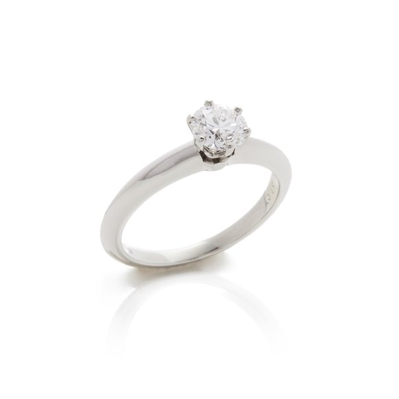 Tiffany & Co. Platinum 0.57ct Diamond Solitaire Engagement Ring