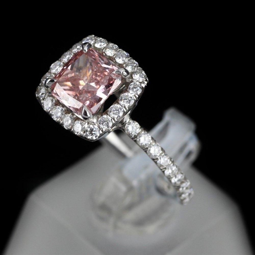 18k White & Pink Gold 18ct White & Pink Gold Pink Diamond Ring